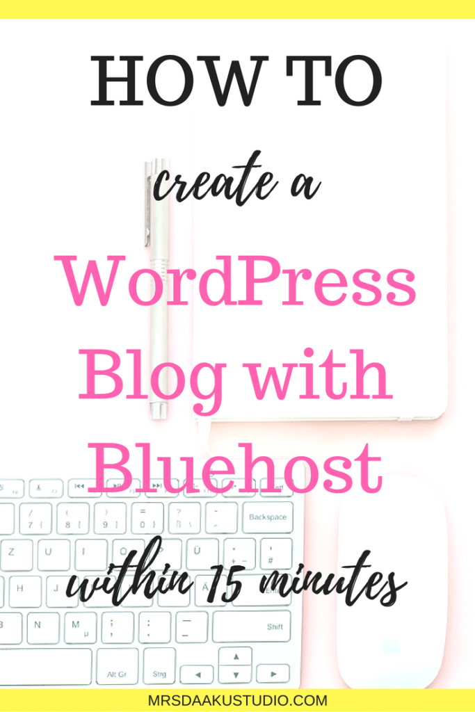 If you want to build a successful business, you have to have a website. This post is a step by step guide to creating your own WordPress blog with Bluehost. How to start a blog | How to create a blog | WordPress blog | How to start a blog for beginners | How to start a blog and make money