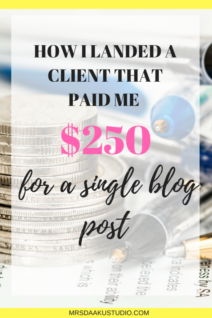how i landed a freelance writing client in india who paid me $250 a post