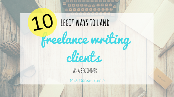Freelance writing clients