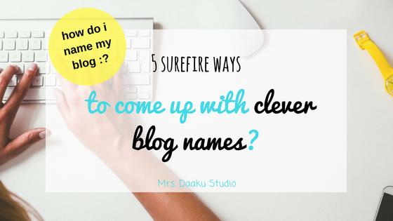 clever blog names ftd