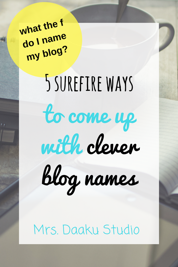 clever blog names