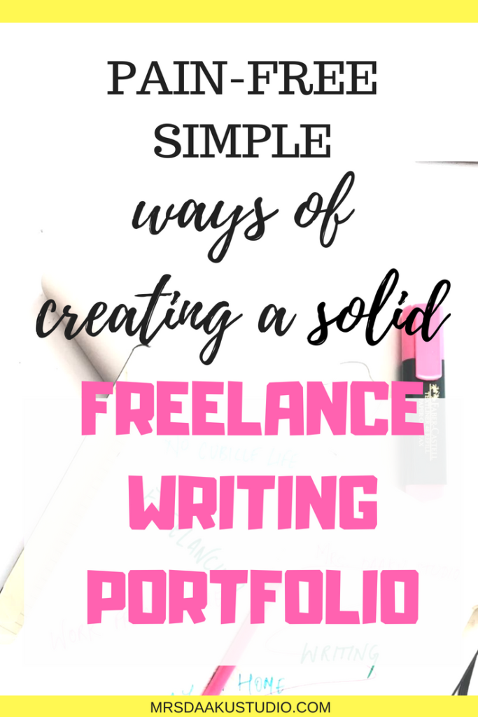 This is a 1500+ word articles that details 3 simple ways of creating a killer freelance writing portfolio for beginners no experience. If you use these 3 tactics, you will quickly build an impressive writing portfolio and land high paying freelance writing jobs