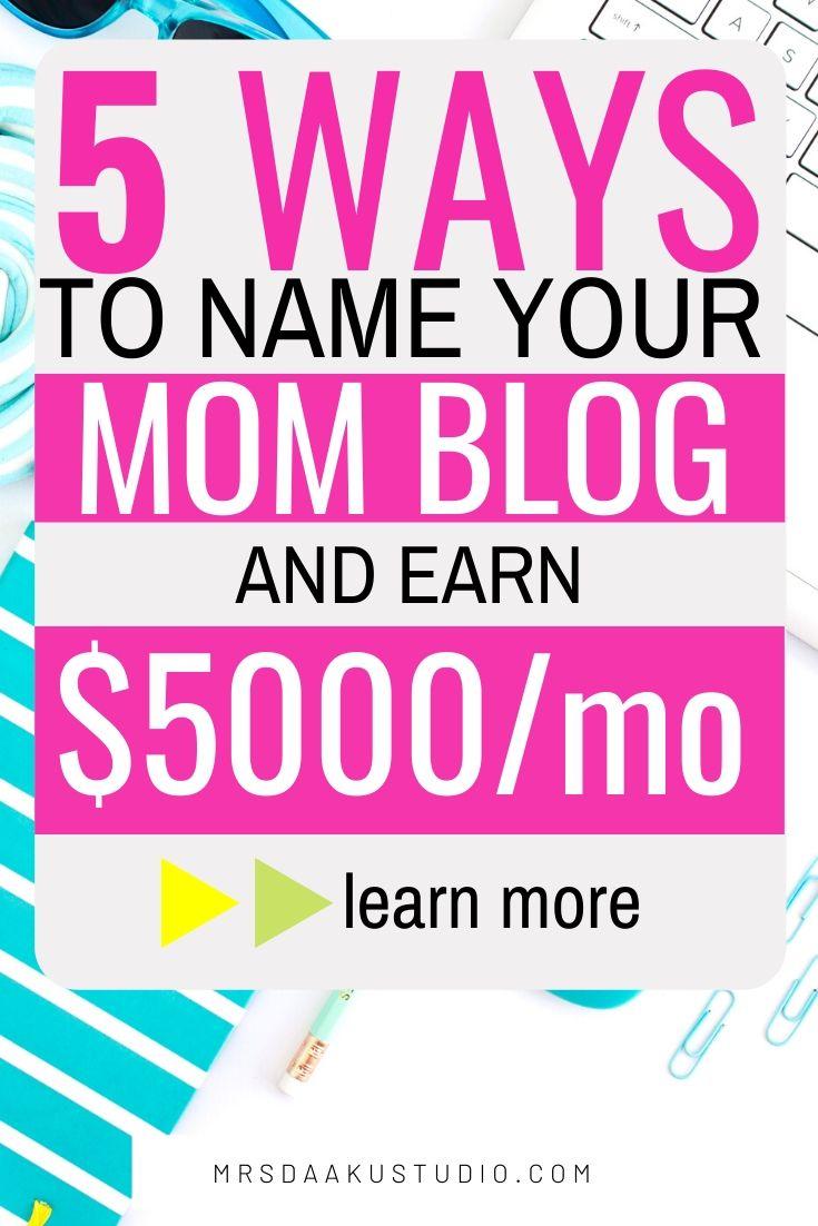 mom blog names