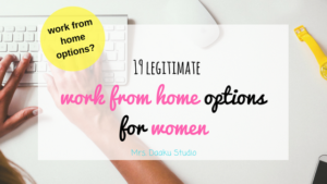 If you are looking for a work from home job or work from home opportunity, this post is full of options. From freelance writing to photography and party organizer, this post contains exhaustive list of work from home options for stay at home moms. By the end, you will definitely have a direction. Click here to read it