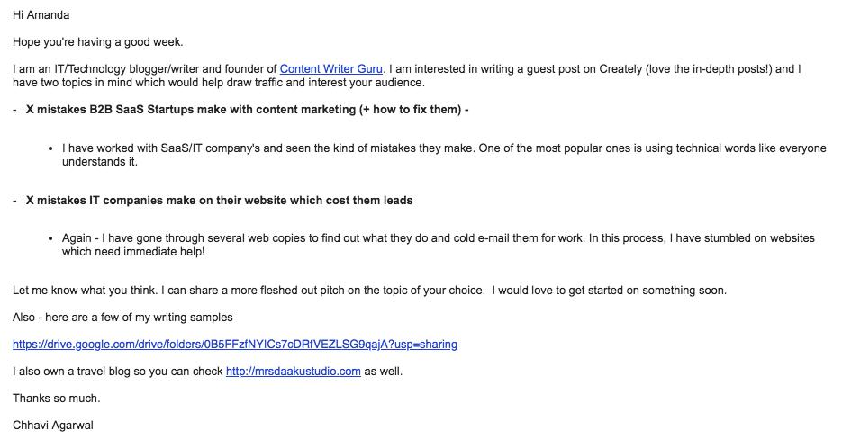 writing portfolio - how to write a pitch