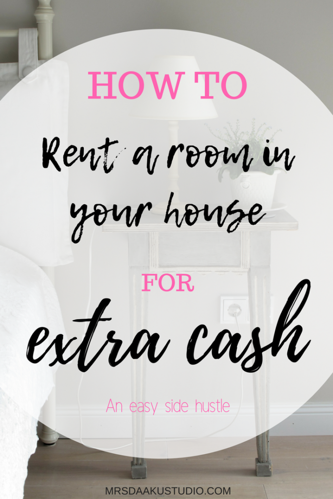 Looking for a simple side hustle that makes your extra cash quickly? Here is a great tip. Make an extra $500 a month easily. Side hustle | work at home | renting a room in your house | make money online | online money