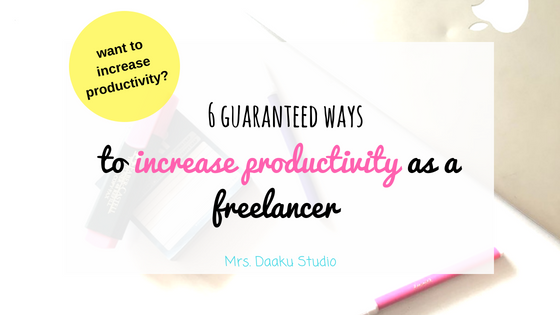 To increase productivity as a freelancer is no easy task. But, this detailed guide, will take you through 6 guaranteed and simple ways to increase productivity at work. Click here to read and start being productive from today. Work from home | Freelancer | Increase productivity as a freelnacer.