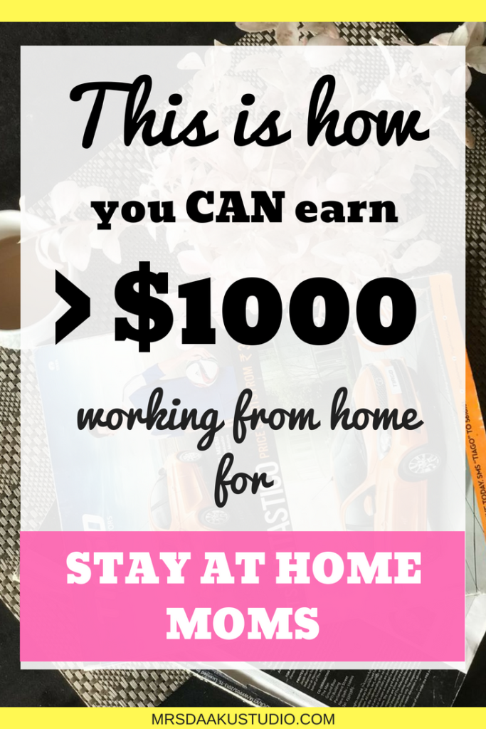 If you are a mom who is looking to earn through a side hustle, this post shares 4 legitimate work at home options that can make you more than $5000. Work at home | Work at home mom | Work at home jobs legitimate