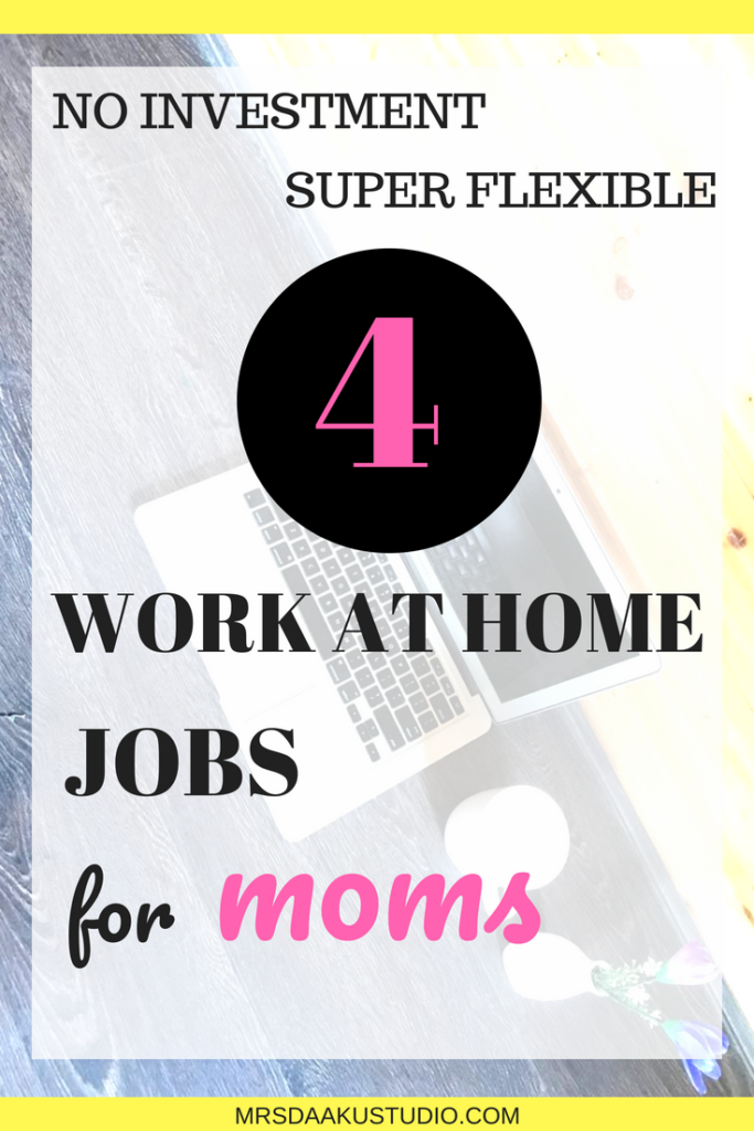 If you are a mom who is looking to earn through a side hustle, this post shares 4 legitimate work at home options that can make you more than $5000. Work at home | Work at home mom |