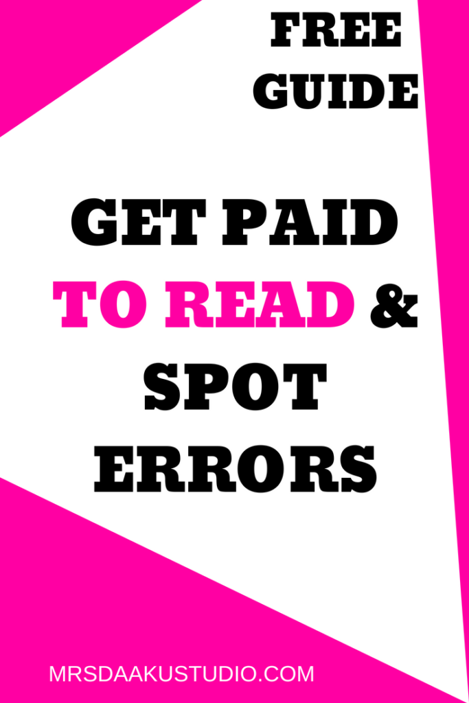 Become a proofreader at home