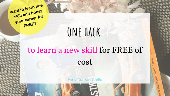 learn a new skill for free