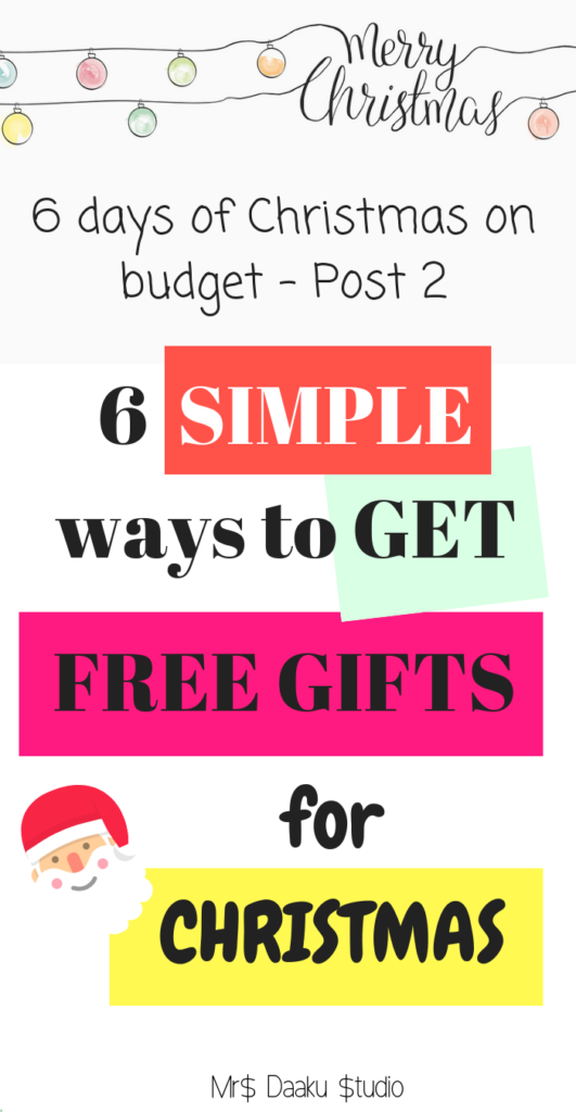 Do you want to get FREE Christmas gifts that are personalized and thoughtful for your  sc 1 st  Mrs Daaku Studio & 6 simple ways to get FREE Christmas gifts