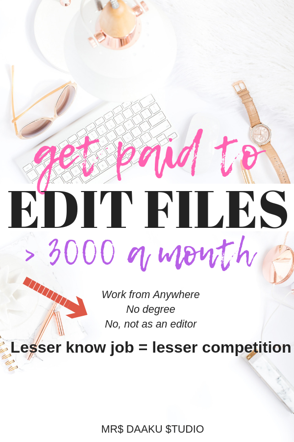 Scoping is a legitimate work from home option. You get paid to edit files, work from anywhere, make money online, be debt free, generate a full time income and spend more time with family. Perfect for college students as well as stay at home moms (or parents). A lesser known side hustle idea.