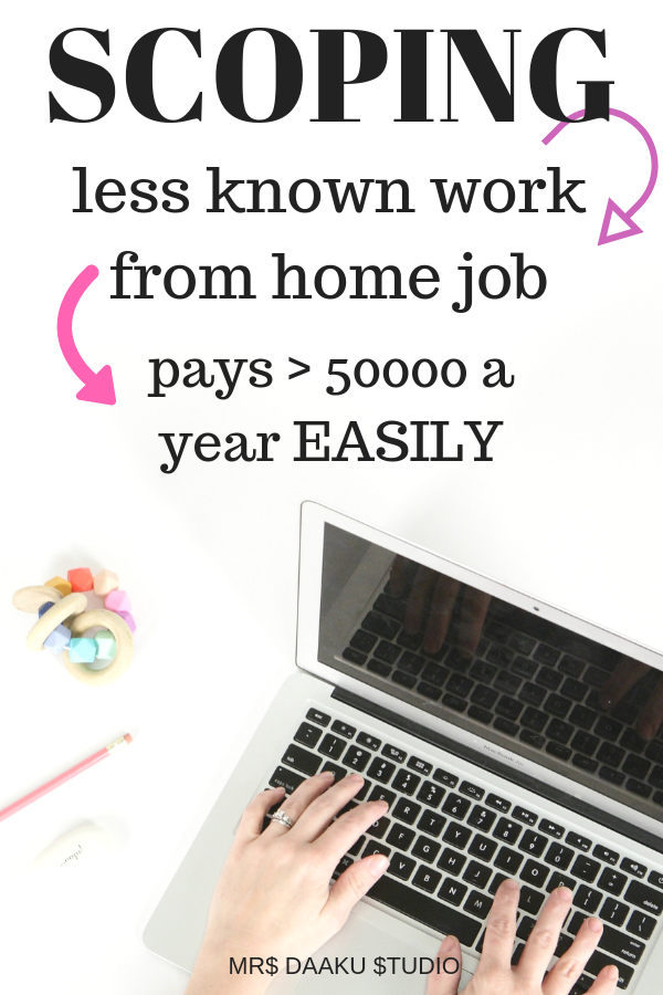 Side hustle that is lesser known but profitable online business that pays > $50k a year. If you are looking to work at home and have no experience, this could be it. Scoping is someone who works with court reporters and edits files. So, enrol yourself in internet scoping school, make money online and be location independent