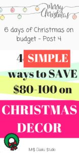 save money on christmas decors