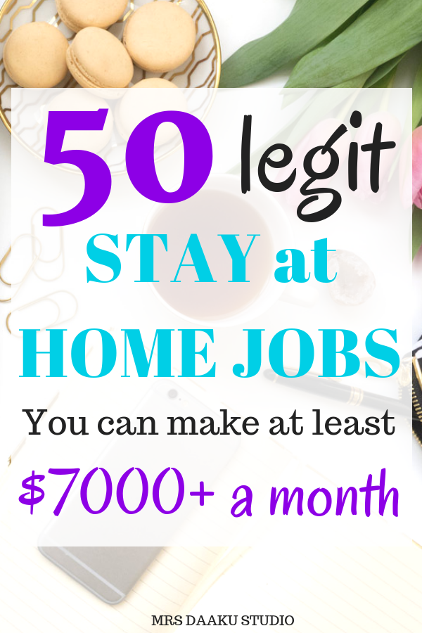 Work from home legitimate options for 2019 - this list shares 50 best work from home jobs for moms. It includes data entry, virtual assistant, freelance writing, customer service, proofreading, bookkeeping and other highest paying stay at home jobs for beginners no experience. START TODAY