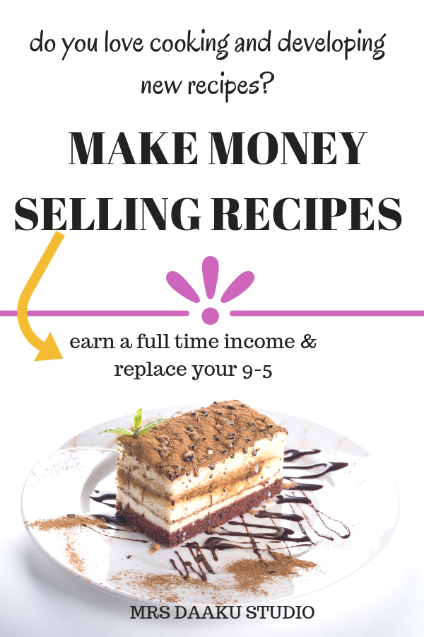 Do you love to cook? Do you have recipes that noone knows? Then, let me tell you - you can make a full time income with it. This post is a detailed guide on how to make money selling recipes, get paid for your recipes, start a food blog, food channel on Youtube etc to make money online and have a flexible schedule.