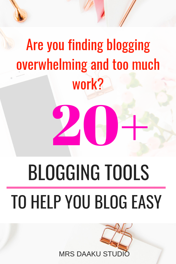 Side hustles, like Blogging, are fun BUT overwhelming and difficult to get. This blog post will tell you 20+ blogging tools for beginners to make blogging easy, earn a full time income, achieve financial freedom and work from home.