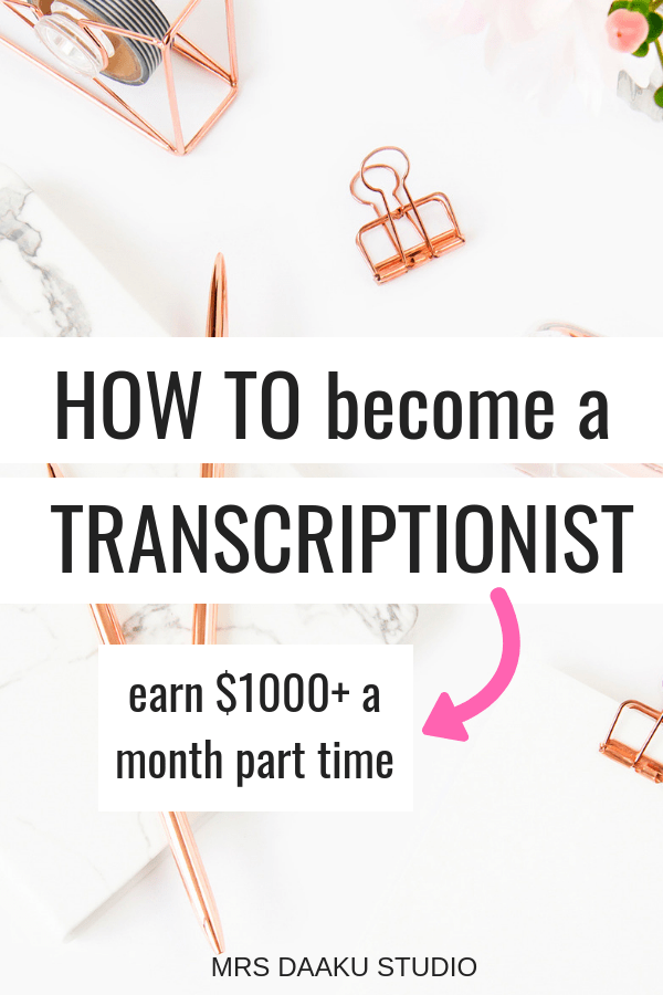 This post has EVERYTHING you need to know about getting a transcriptionist job. It includes transcriptionist tips, transcribe from home hacks, how to transcribe and earn money online working from home.