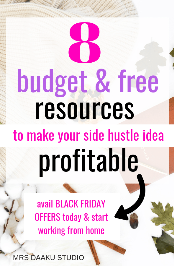 Side hustle ideas are so common - this post has ALL resources and course which are on a budget and can help you get started working from home. Get started!
