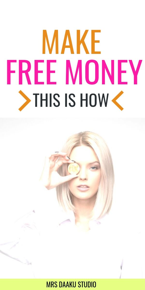 free money - Pinterest graphic