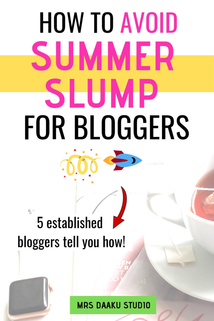 Summer Blog Slump: What Bloggers Can Do in the Summer