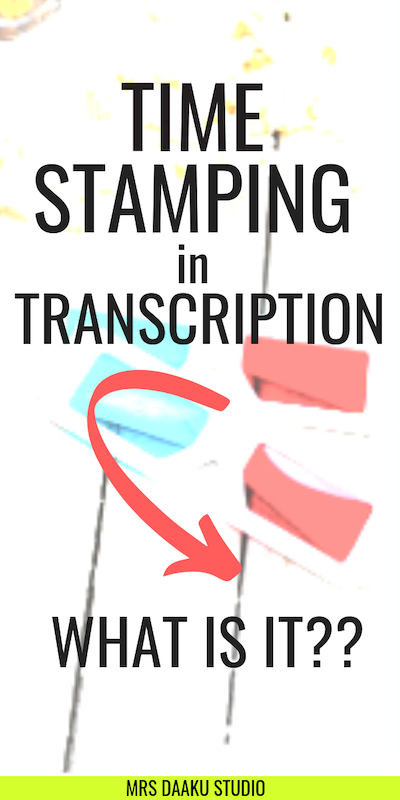 timestamping in transcription