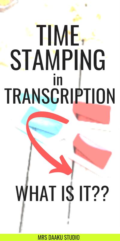 timestamping in transcription