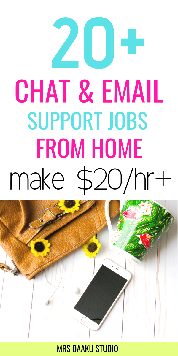 chat and email support jobs from home