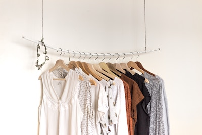 clothes on a hanger. Sell clothes online.