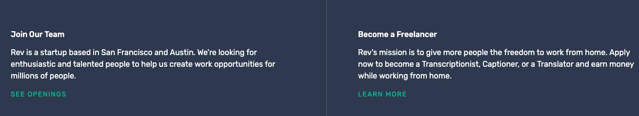 rev transcription jobs