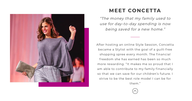 testimonial from a stella and dot independent stylist on how she makes money online