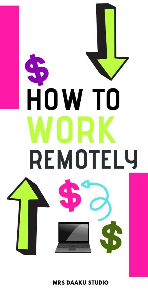 how to work remotely - pinterest graphic