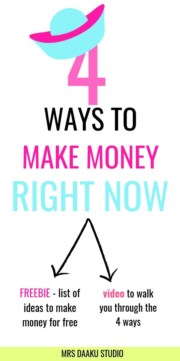 how can you make money right now