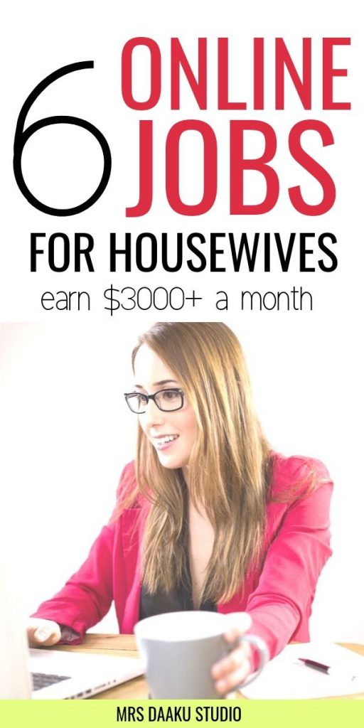 online jobs for housewives and work at home moms to make money online