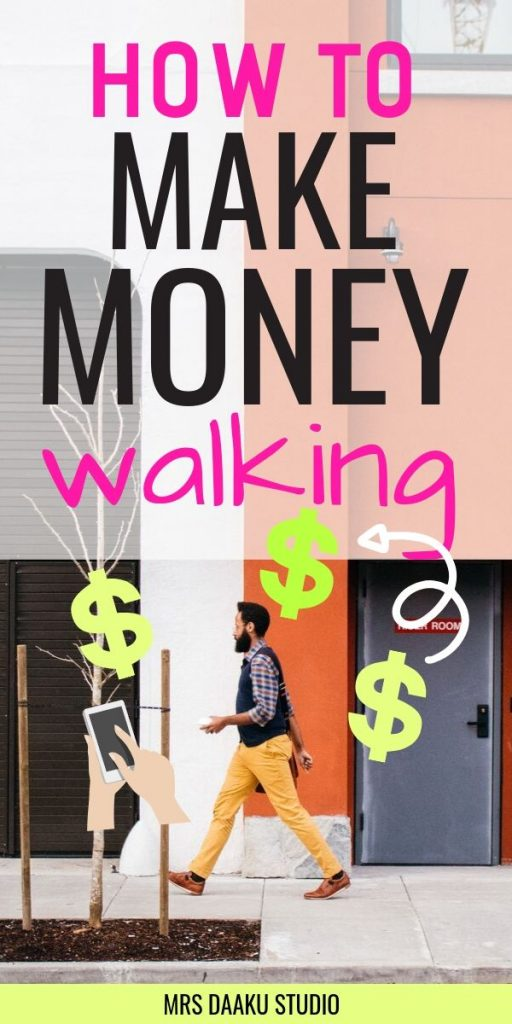 make money walking - man walking on the street - pinterest graphic