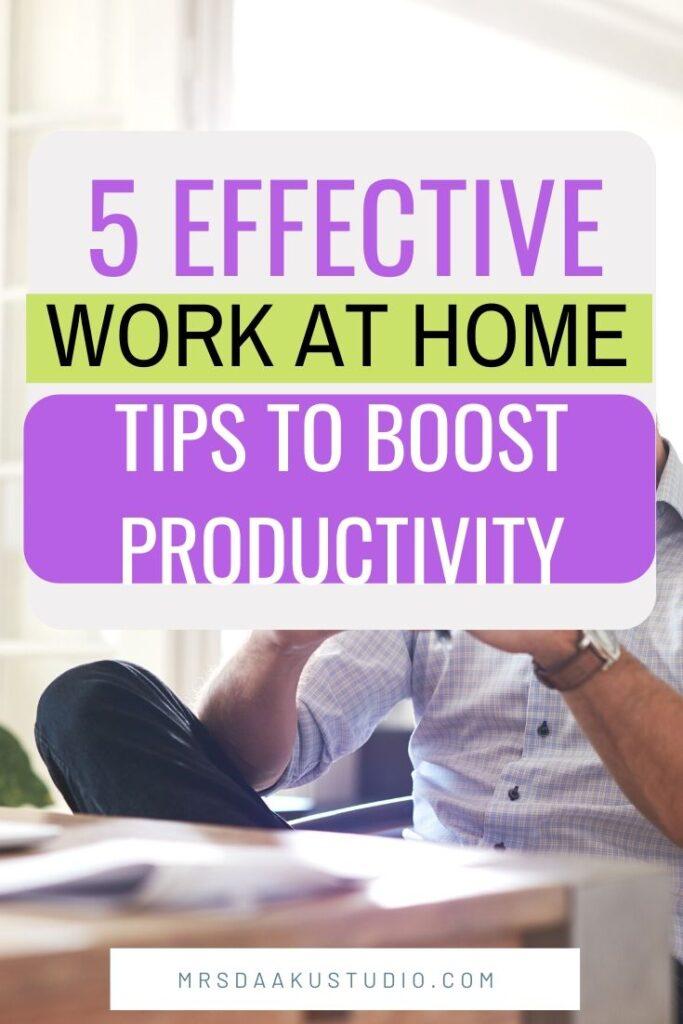 coronavirus and work from home tips