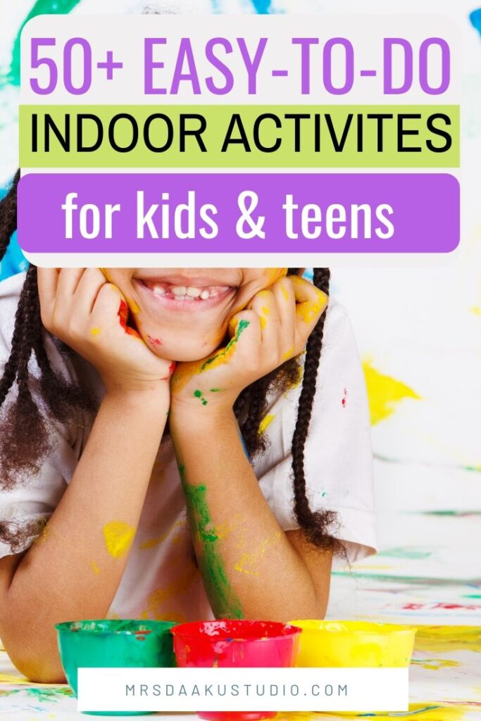 indoor activities for kids and children