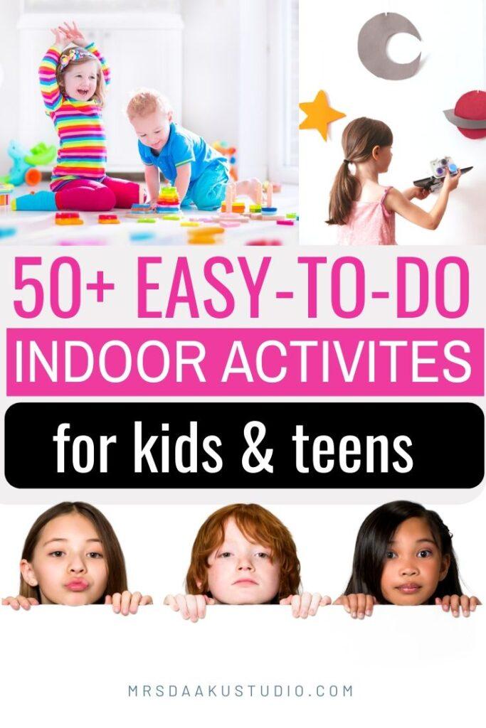 indoor activities for rainy days