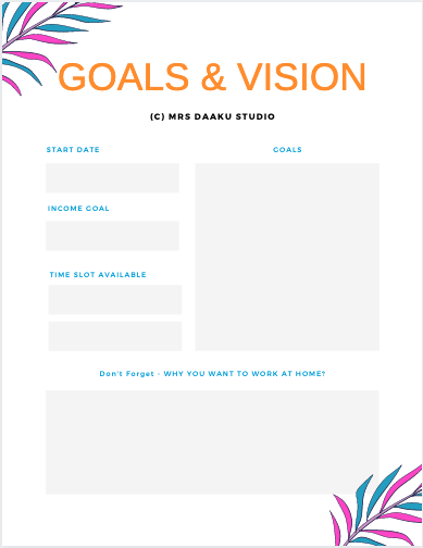 Goals and vision planner