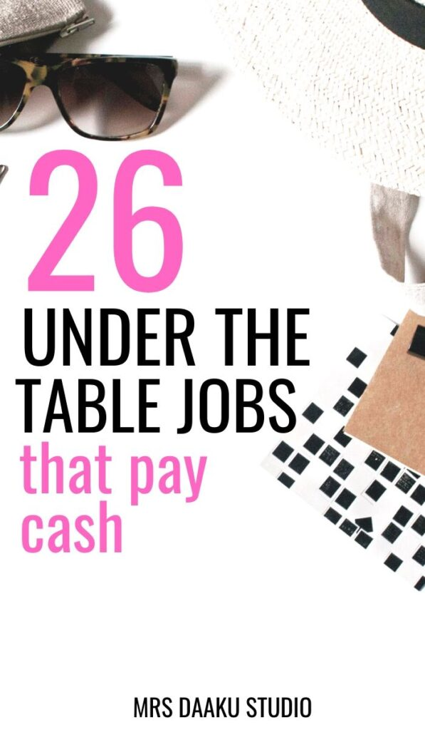 under the table jobs and how to find under the table jobs using craiglists
