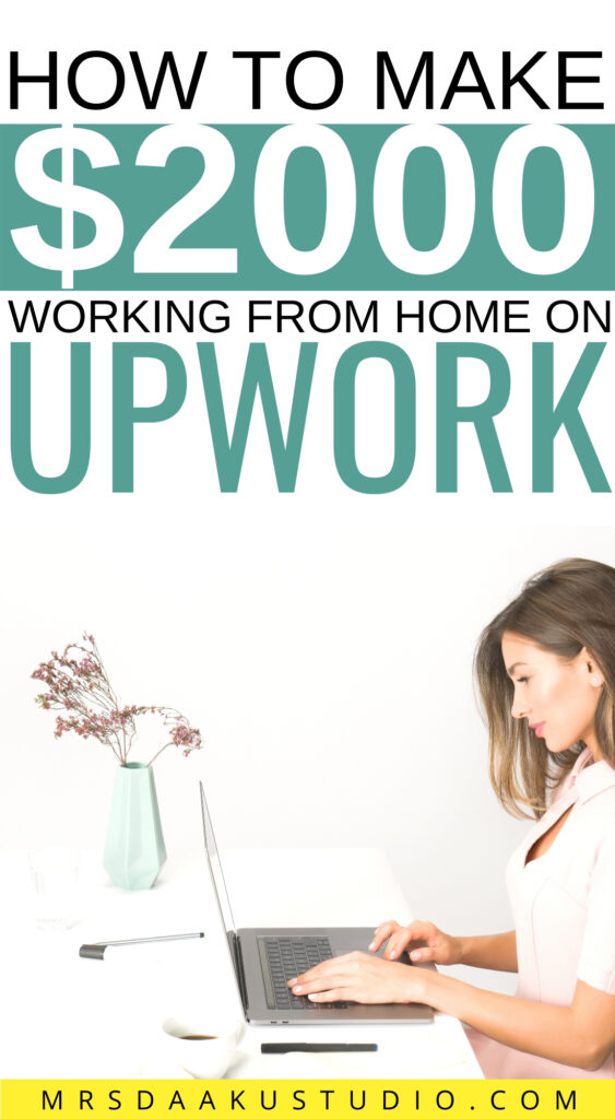 is upwork legit - a girl with a laptop near a plant