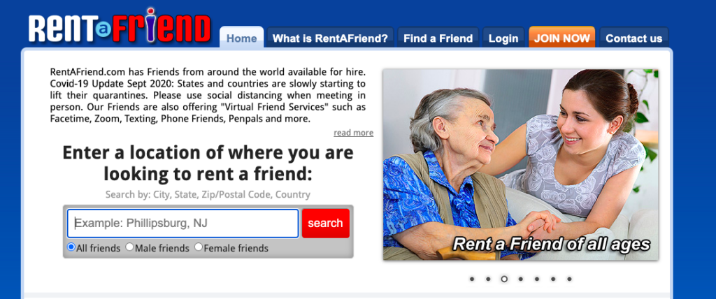 rent a friend review - get paid to be a virtual friend