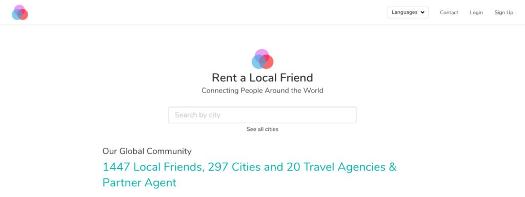 virtual friend - rent a local friend