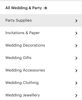 wedding and party items to sell on etsy and make money from home