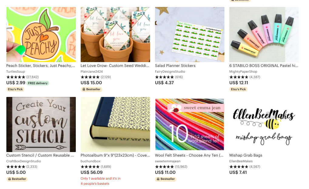 best things to sell on etsy - craft and supplies