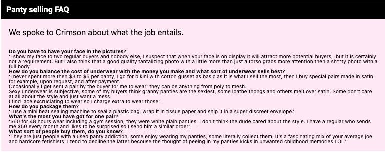 How To Sell Panties Online Scenes